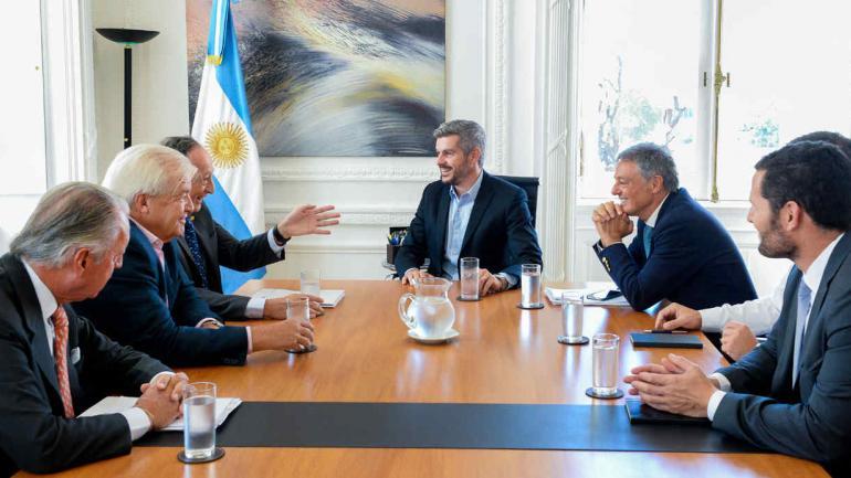 ENCUENTRO. Peña se reunió con Francisco Cabrera (Fotos de Presidencia).