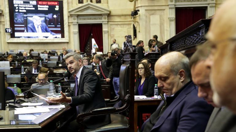 Marcos Peña en la Cámara de Diputados de la Nación (Presidencia)