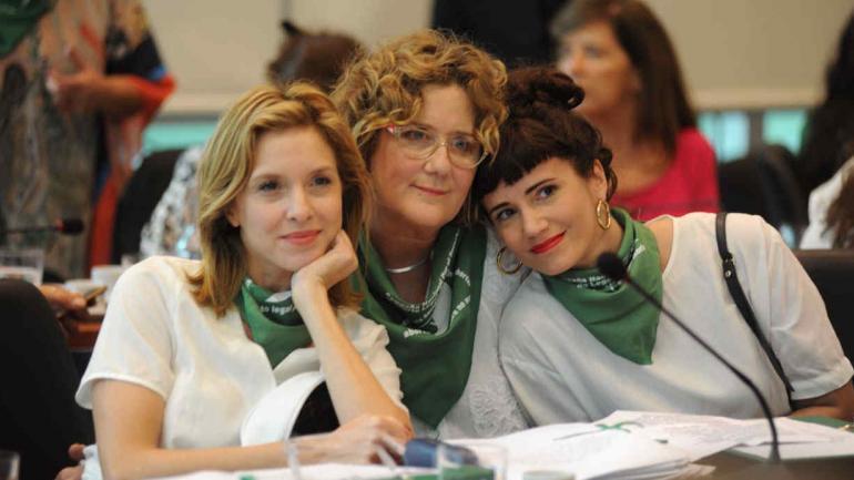 HISTÓRICO. Las actrices Carla Peterson, Verónica Llinás y Griselda Siciliani (Federico López Claro).