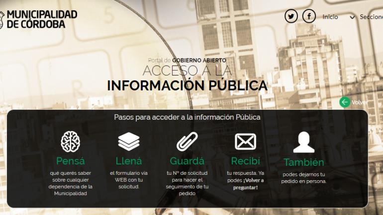 DATOS. En el portal, la Municipalidad de Córdoba pone a disposición de los vecinos 933 recursos de datos y 170 conjuntos de datos, que facilitan consultas ciudadanas o investigaciones académicas y periodísticas (Municipalidad de Córdoba).
