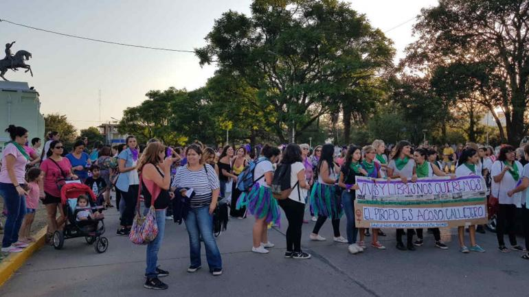 La concentración en Río Tercero.