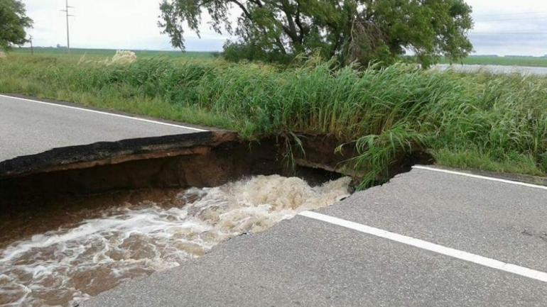 RUTA 158. Así quedó tras las lluvias del pasado 19 de febrero (La Voz/Archivo).