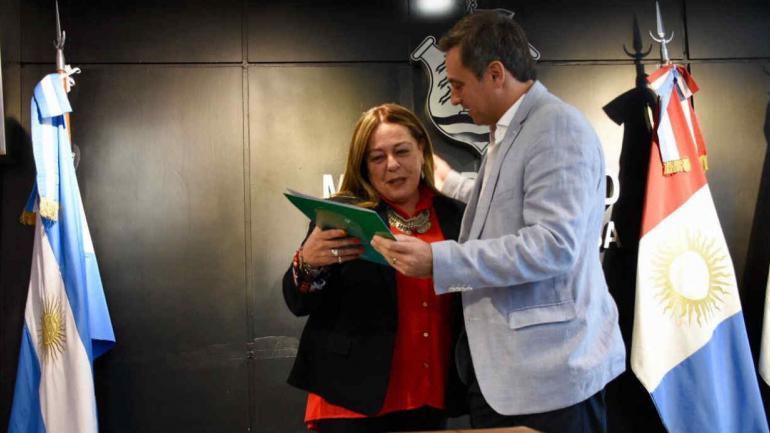 DANIELA SACCHI. Asumió en Educación (Prensa Municipal).