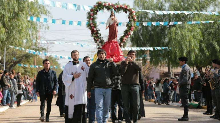El aniversario del pueblo coincidió con el cierre de la novena del Sagrado Corazón de Jesús, patrono de la localidad./Serrezuela.