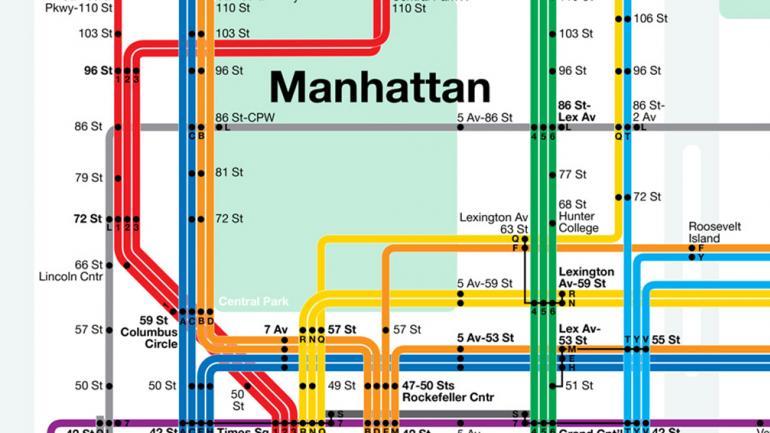 El subterráneo de Nueva York.