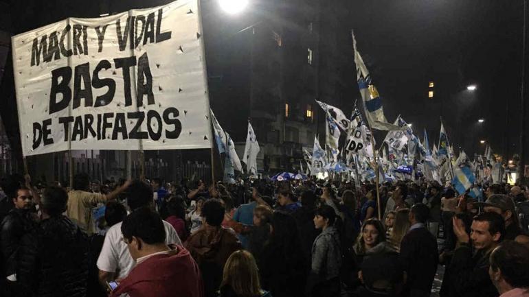 BUENOS AIRES. Marcha contra el tarifazo (Foto de Twitter).