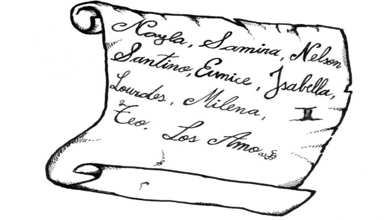 Reconstrucción de uno de los tatuajes (archivo judicial).