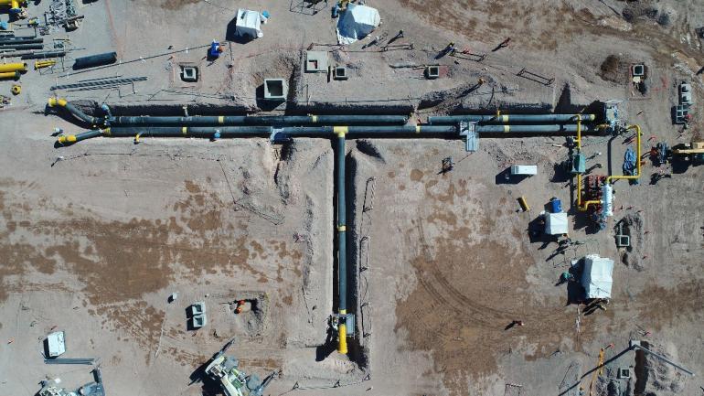 """Evolución. Considerada hoy """"la estrella"""" de la cuenca, Tecpetrol construyó un gasoducto para llevar su gas a la red nacional de TGN y TGS."""