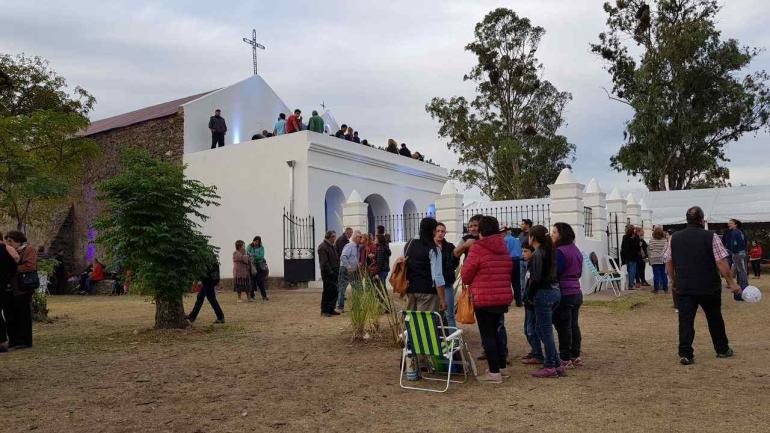 RESTAURACIÓN. La restauración de la capilla fue un proyecto, financiado por el gobierno de Córdoba con una inversión de $4.392.651,38. (La Voz)