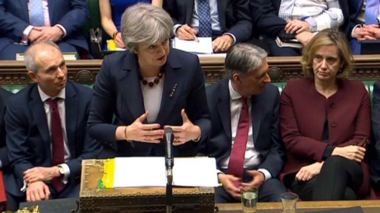 La primera ministra británica, Theresa May. (AP)