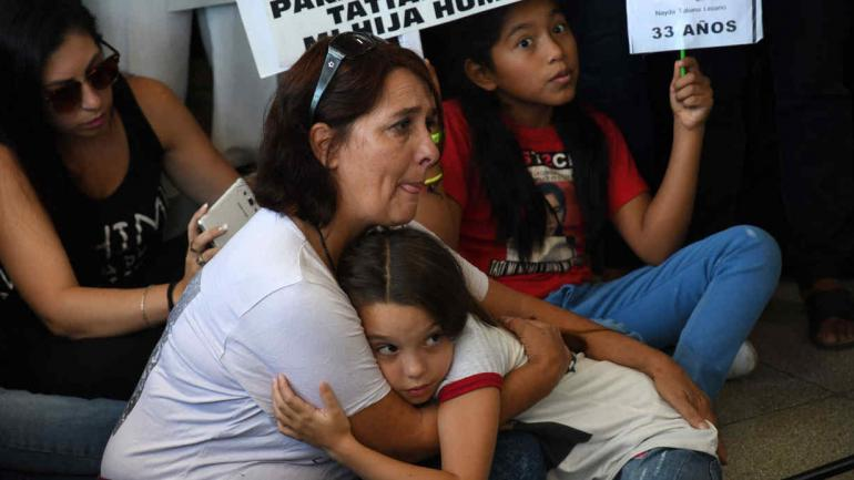 CASA ROSADA. Macri recibió a familiares de las víctimas de la tragedia de Once (Télam).