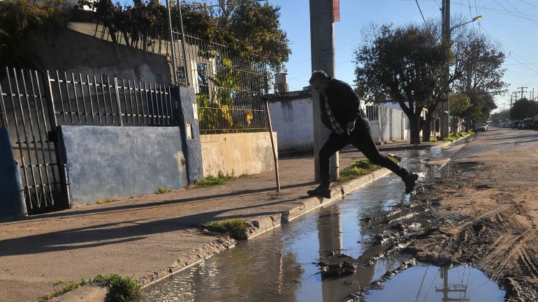 Sudoeste. Villa El Libertador, una de las áreas más desfavorecidas, con frecuentes problemas de suelo.