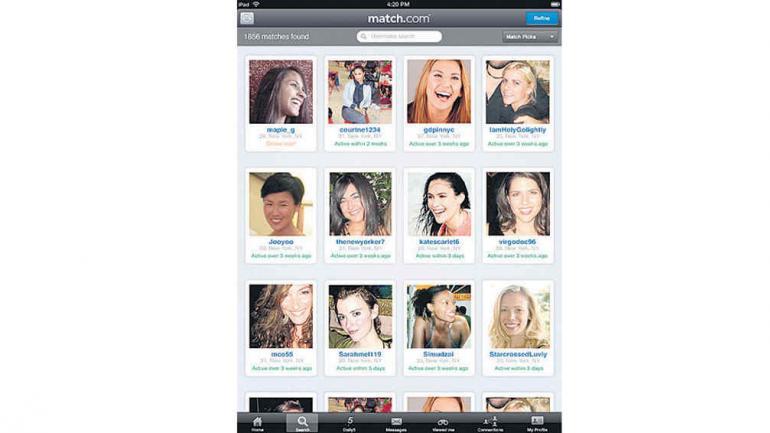 "Match.com: Un ""Cupido virtual"" que sugiere compatibilidades de pareja."