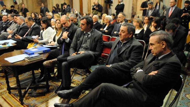 Los senadores participaron de la audiencia de la comisión de Acuerdos. (Clarín)