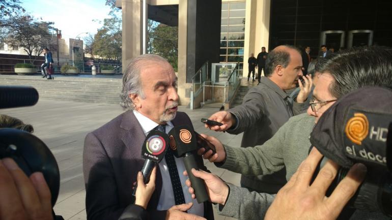 Llermanos, el abogado de Hugo Moyano, hoy en Córdoba (Nicolás Bravo)