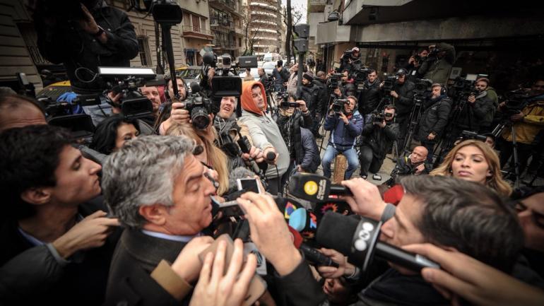 DALBÓN. El abogado de Cristina, antes del allanamiento (Federico López Claro).