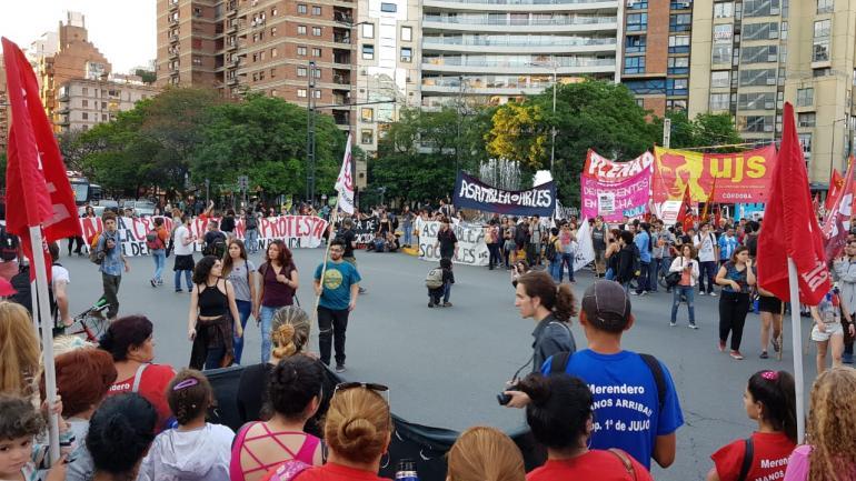 Agrupaciones estudiantiles rechazan imputaciones por la toma del Pabellón Argentina (Facundo Luque/La Voz).