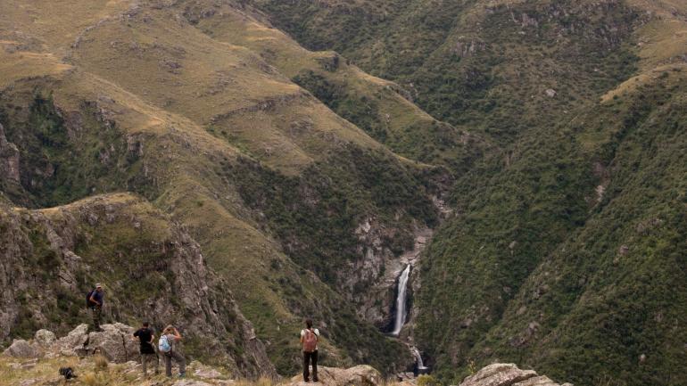 Imponente. Así, sencillamente, es la vista de la Quebrada del Yatán. (La Voz)