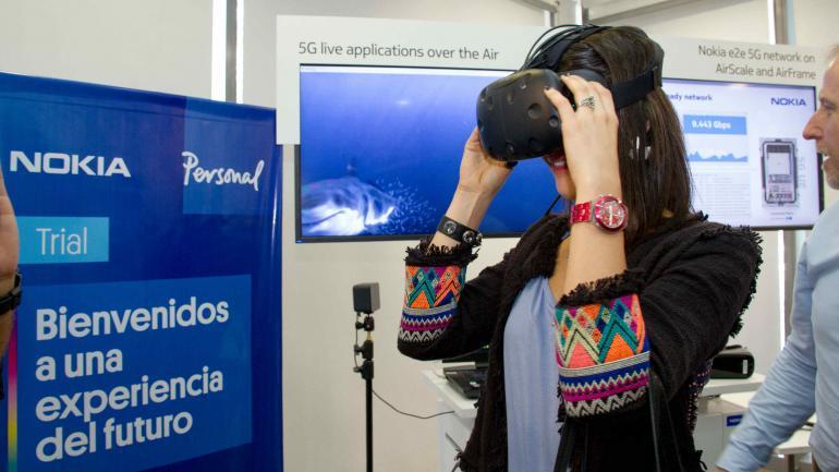 PRUEBA. Telecom y Nokia probaron la red 5G con realidad virtual y robots. (Fotografía Prensa Telecom)