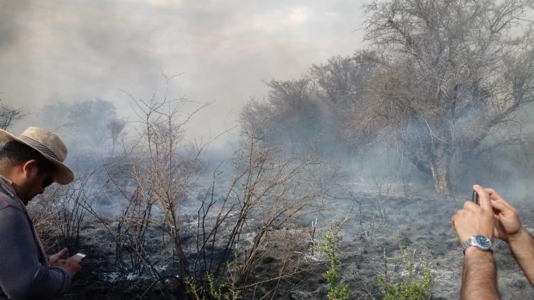 El incendio de este martes en Traslasierra .