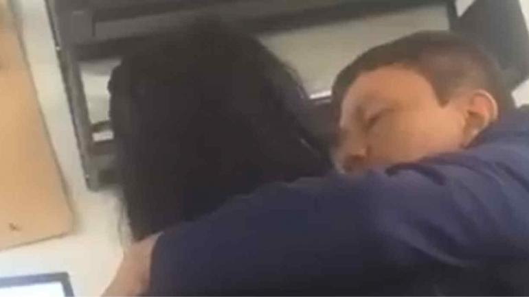 VIDEO. En la filmación quedó registrado el acoso del profesor que la estudiante presentó a la Justicia (Imagen de video).