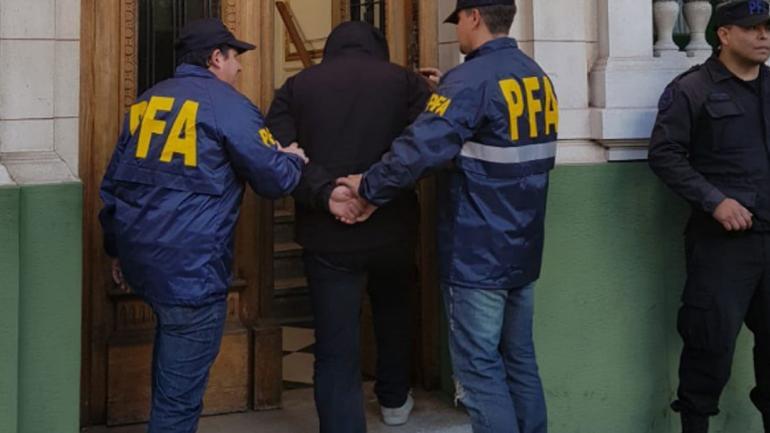DETENIDO. En La Plata (Ministerio de Seguridad de la Nación).