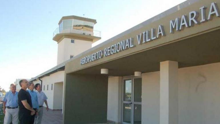 Aeropuerto Néstor Kirchner, en Villa María (La Voz).