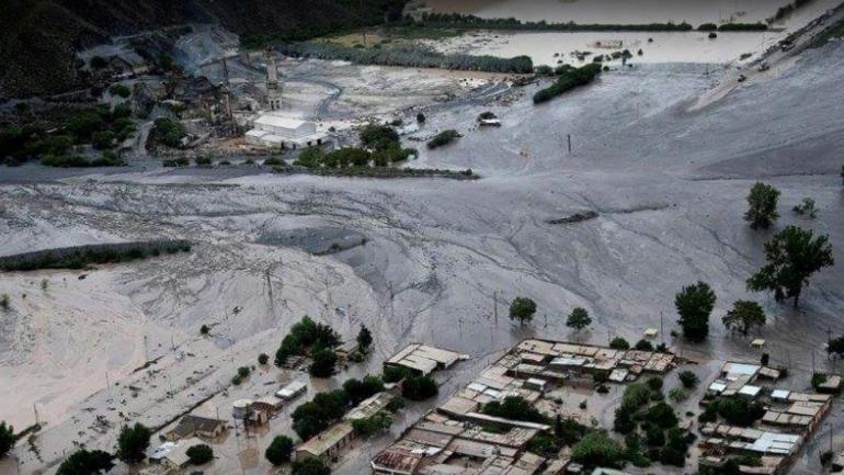 ALUD. Impactante imagen de Volcán (Jujuy Online).