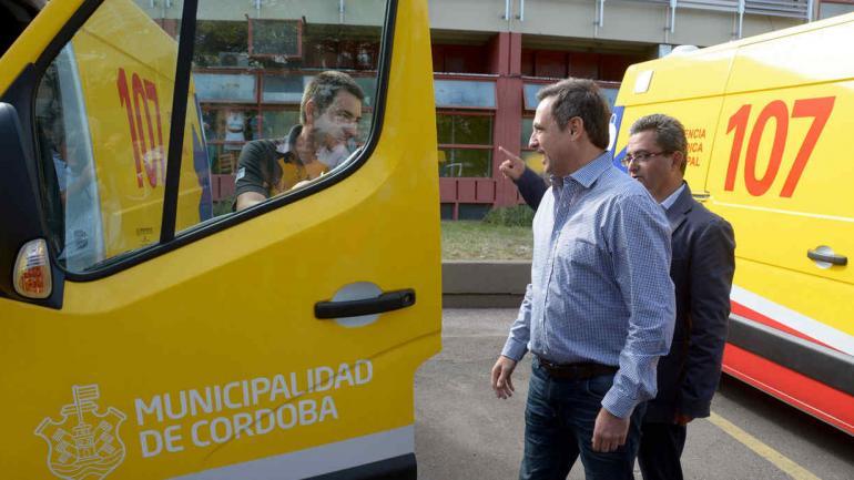 AMBULANCIAS. El 107 cuenta con 10 nuevas unidades (Municipalidad de Córdoba).