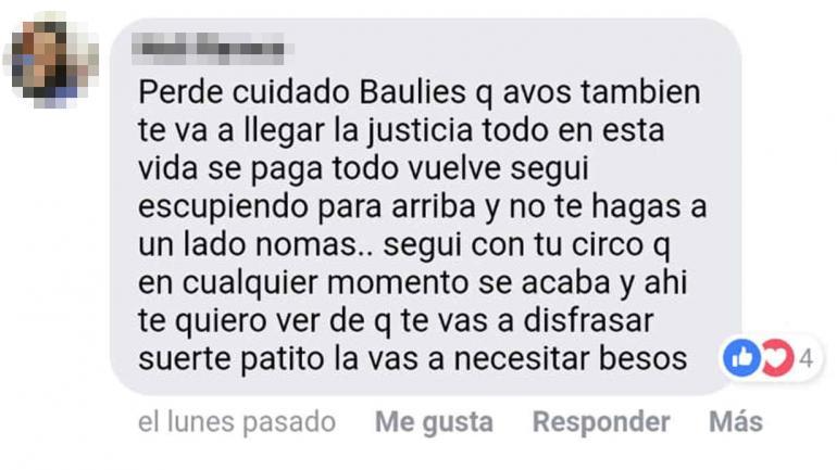 La denuncia (Captura extraída de Facebook: Periodismo Regional).