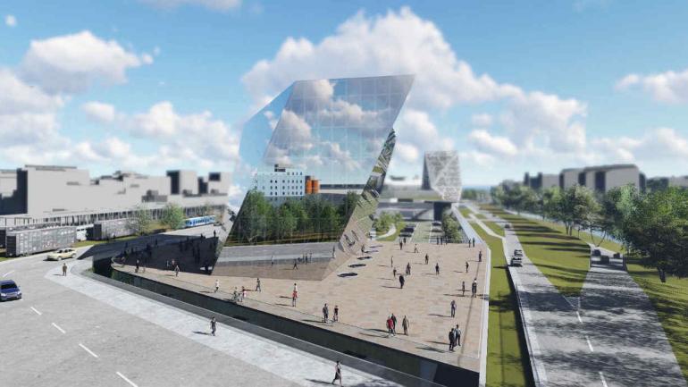 ANEXO. El nuevo edificio concentrará a los ministerios. (Prensa Gobierno).
