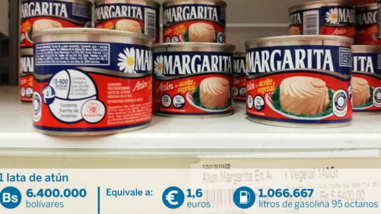 Una lata de atún cuesta más que un salario mínimo en Venezuela (El País).