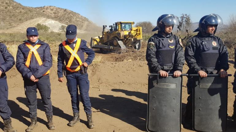 La Policía en el lugar, minutos después del enfrentamiento (La Voz)