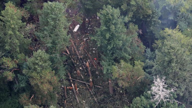 LUGAR. Donde se estrelló el avión, en Ketron Island, estado de Washington (AP/Ted S. Warren).