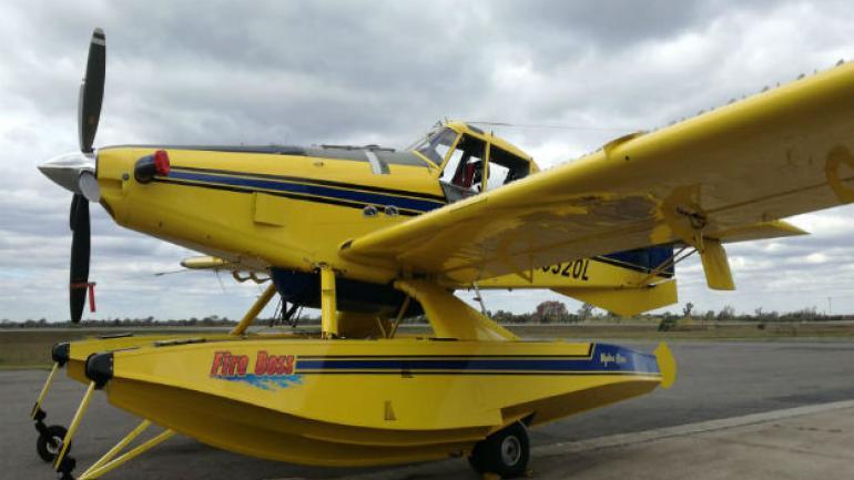 El nuevo avión que suma el Plan Provincial de Manejo del Fuego.