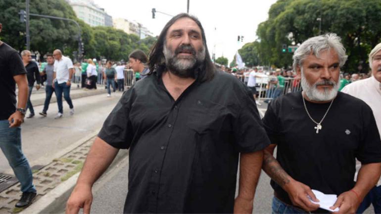 Baradel también participó del acto contra el gobierno de Macri.