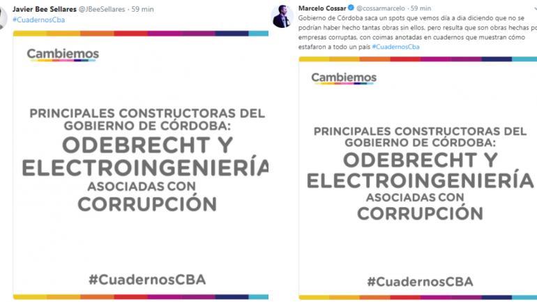 CAMPAÑA. En Twitter, bajo el hastag #CuadernosCBA. (La Voz).
