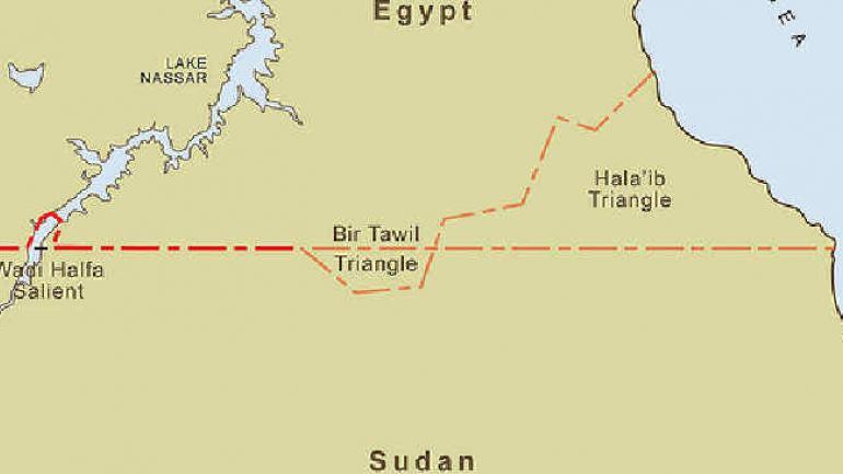 Bir Tawil, en la frontera entre Egipto y Sudán.