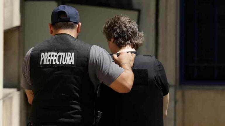 BOUDOU. Al ser detenido (Archivo).