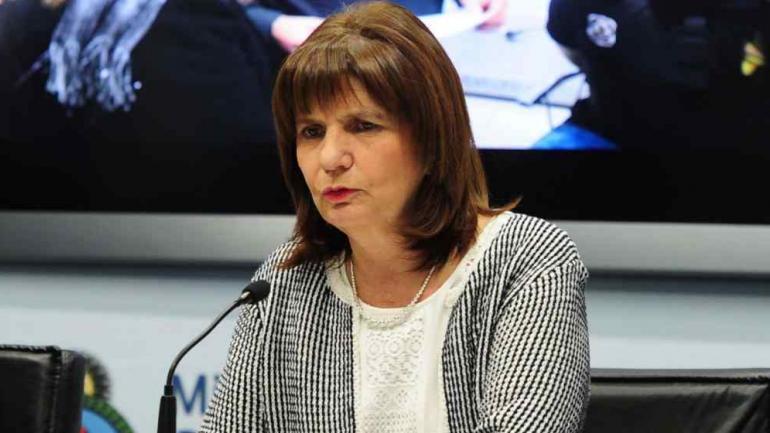 SEGURIDAD. Patricia Bullrich, ministra de Seguridad de la Nación (La Voz).
