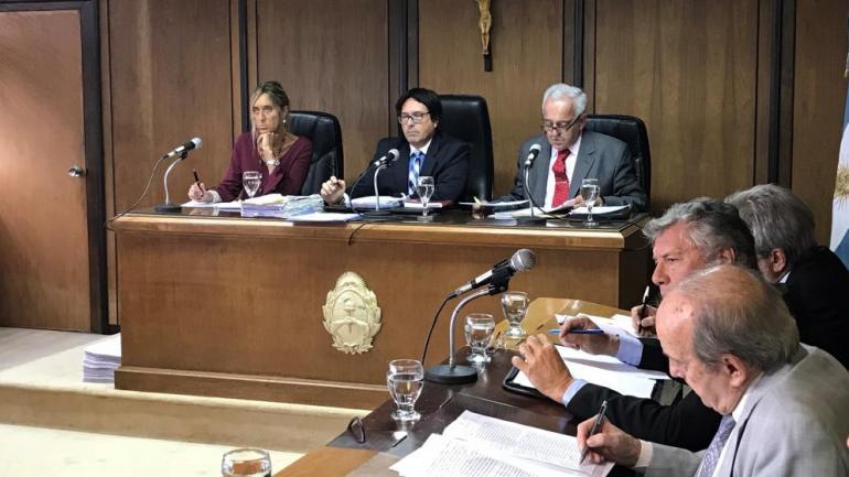Los jueces Montesi, Avalos y Vélez Funes, de la Cámara Federal de Córdoba.