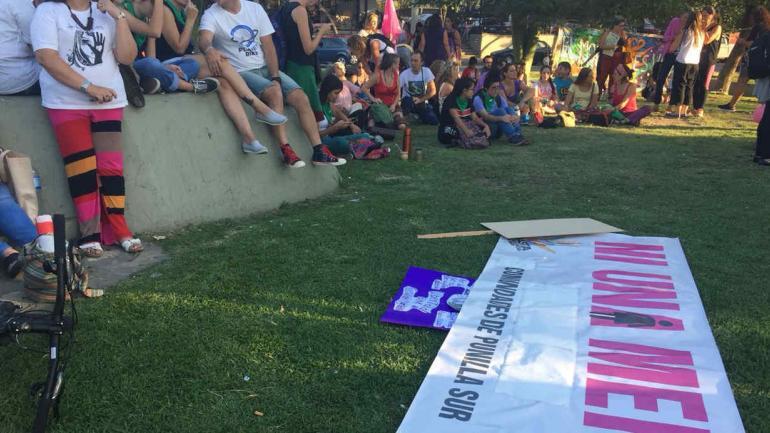 La concentración en Carlos Paz.