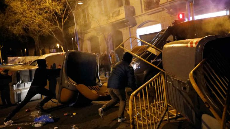 CATALUÑA. Protestas e incidentes (AP).