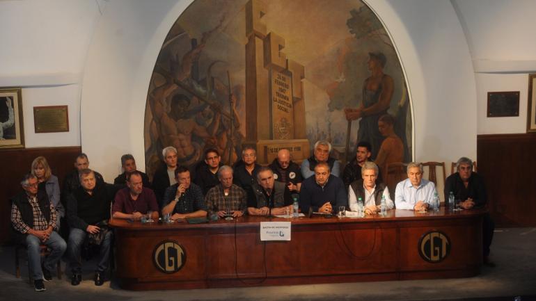 EL TRIUNVIRO DE LA CGT. Durísimo con el Gobierno (Foto: Lucía Merle/Clarín).