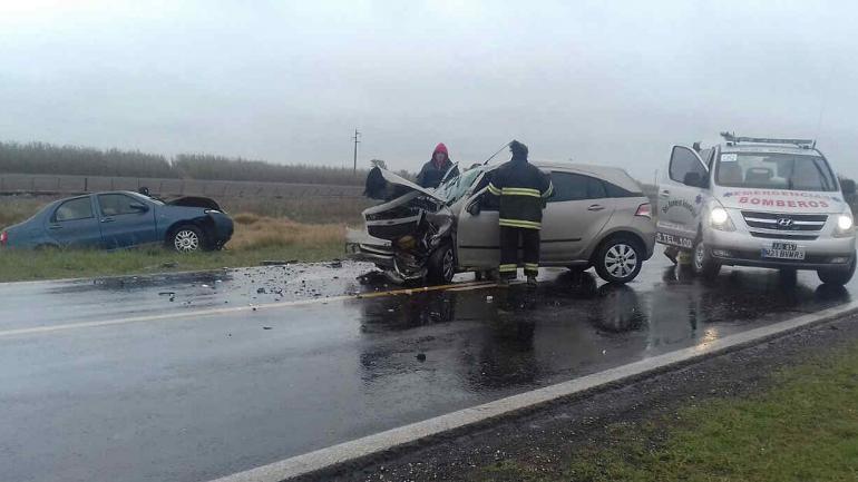 Así quedaron los vehículos luego de la colisión (La Voz).