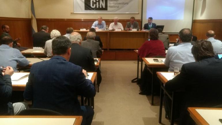 El CIN está integrado por representantes de 57 universidades nacionales.
