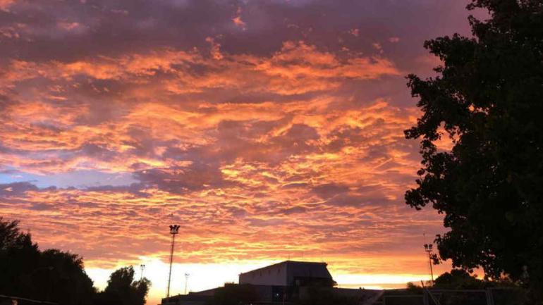 CIELO. Así amaneció Córdoba este martes (La Voz).