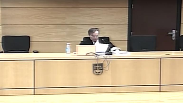 La lectura de la condena a los integrantes de La Manada (captura video).