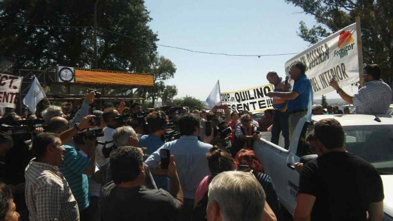 COOPERATIVAS. Protesta de los cooperativistas (La Voz/Nico Bravo).