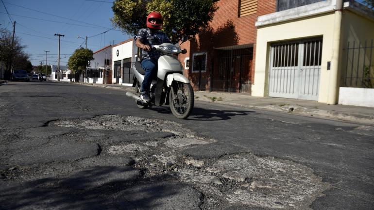 Manuel Quintana y Martín Coronado, otra calle destrozada. (Pedro Castillo)